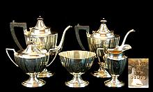 (5) Pcs. Gorham 1911 Silver Plate Tea Server Set