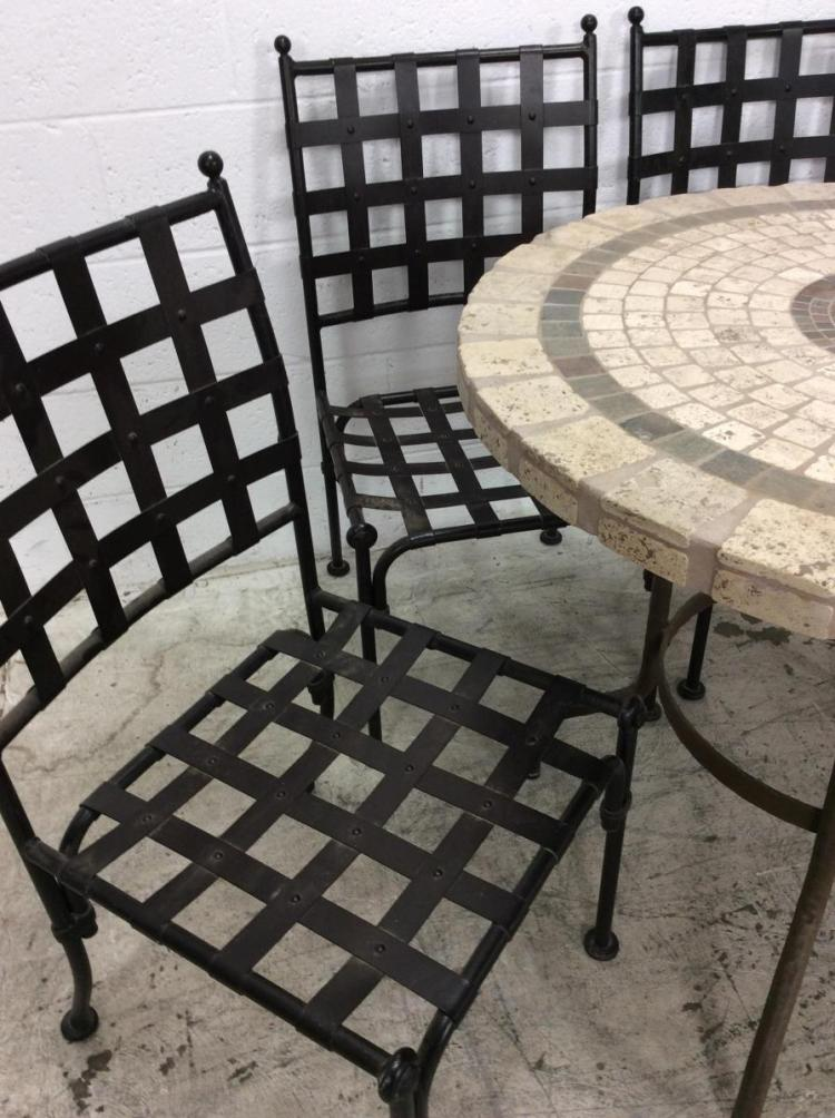 5Pc Tile Top Patio Table & Chairs