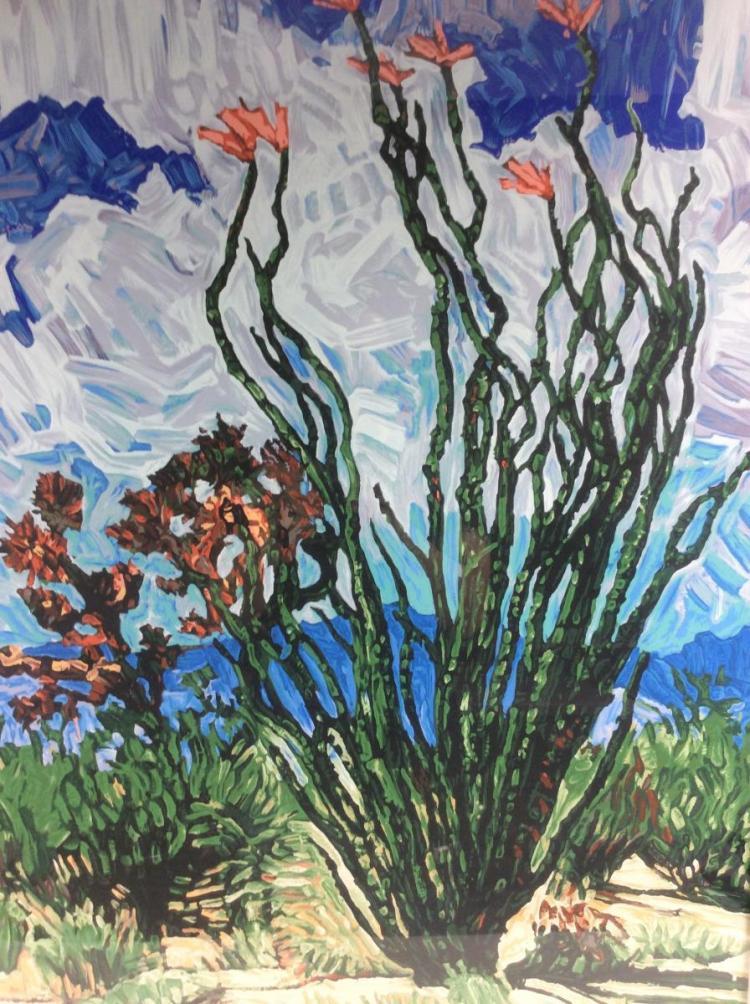 Signed ltd ed desert landscape serigraph for Artworks landscape ltd