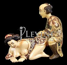 Japanese Erotic Ivory Carving #2