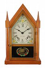 Reverse Painted Glass Seth Thomas Steeple Clock