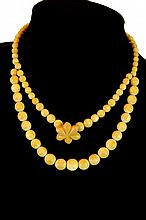 Chinese Carved Ivory Bead Necklace