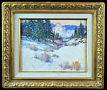 James Butler (1925 -) Oil Painting Winter in Jemez