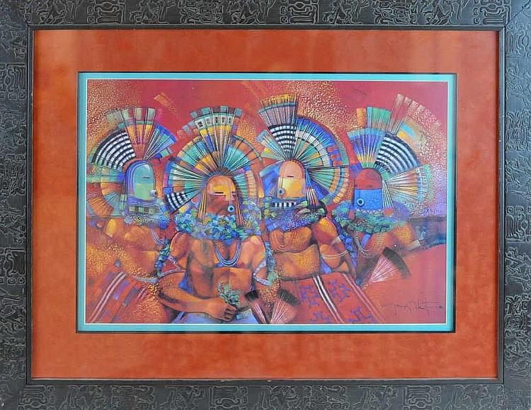 "Tony Abeyta (1965-) ""Red Mesa"" Print"