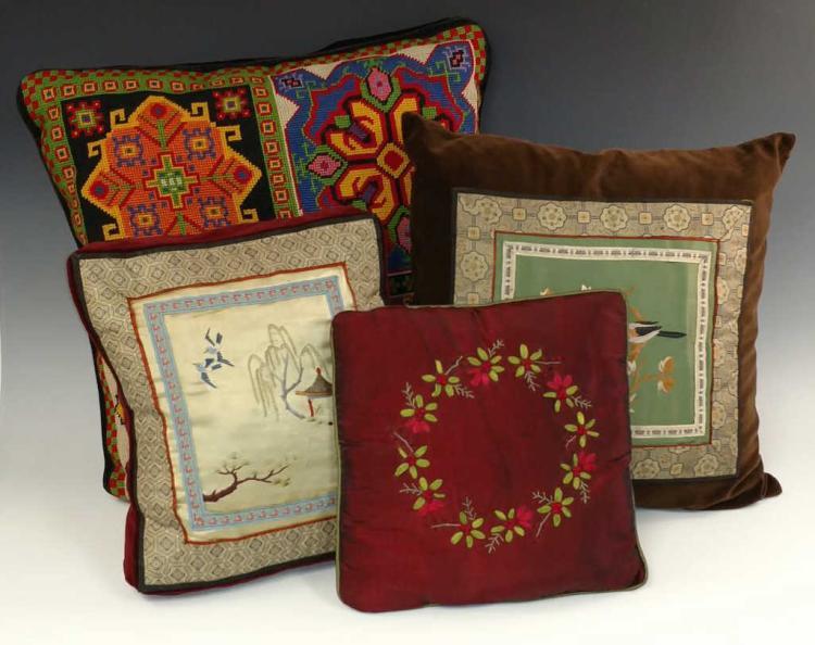 20th C. Decorative Throw Pillow Lot