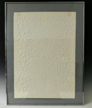 Claire Falkenstein Untitled Embossed Paper Art