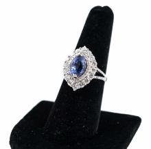 14K Gold Rare Sapphire Diamond Estate Ring