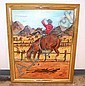Signed Oil on Canvas of Cowboy