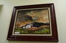 1997 William Zivic Signed Oil On Board Entitled Who Art In Heaven