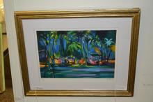 Marcel Mouly Signed And Numbered Lithograph Of Modern Landscape