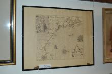 Print Of 1614 Captain John Smith New England Nautical Map