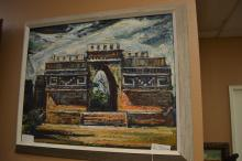 20Th C. Signed Oil On Board Of Arch
