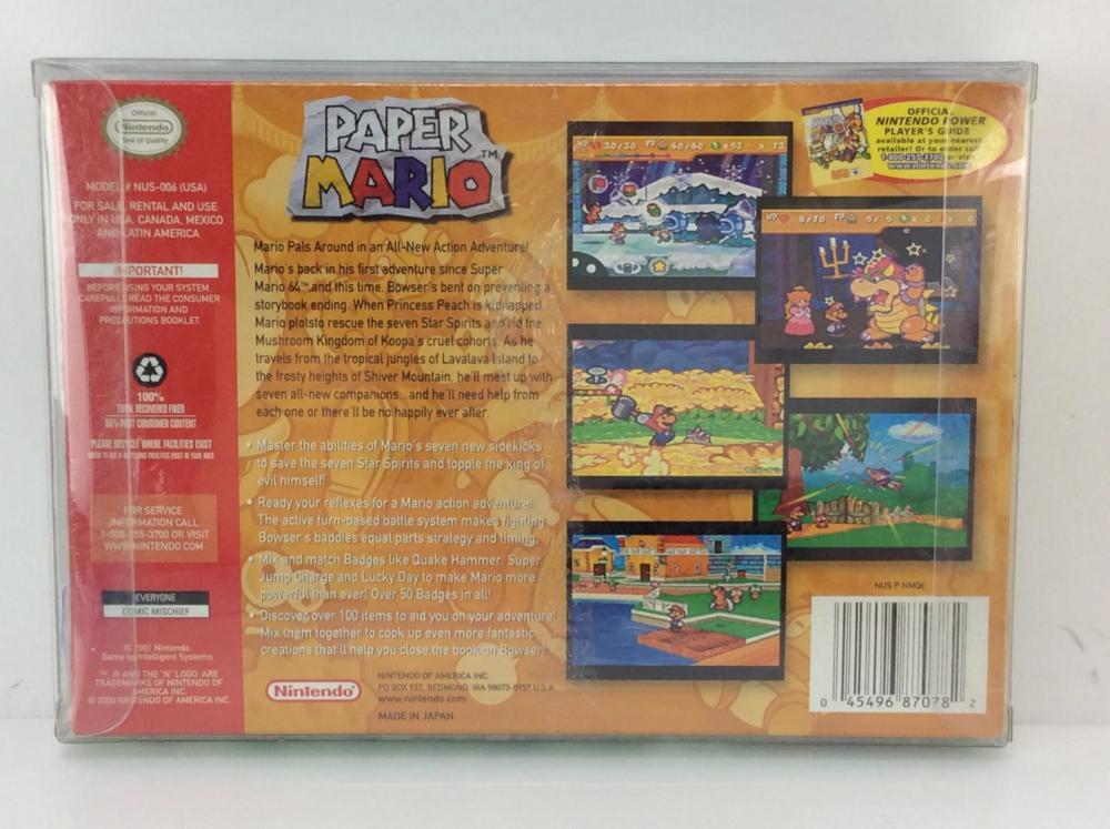 NIB Nintendo 64 Paper Mario Game N64
