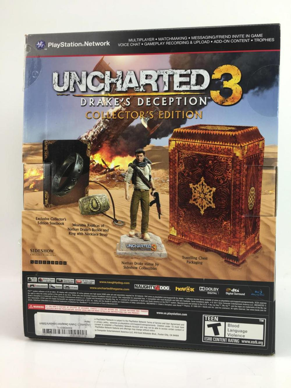 Ps3 Uncharted 3 Collector S Edition Box Set