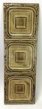 Architectural 3 Panel Molded Metal Art