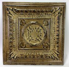 Architectural Crossed Circle Molded Metal Art