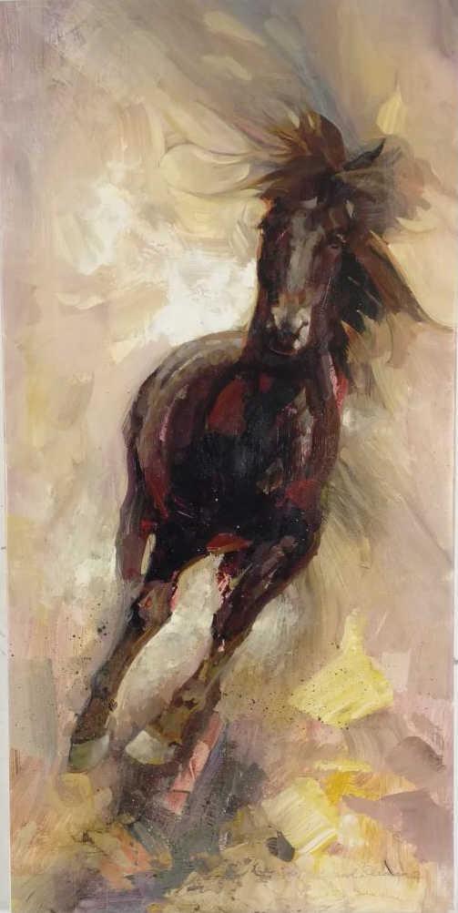 Leland Beaman Untitled, Brown Horse Giclee