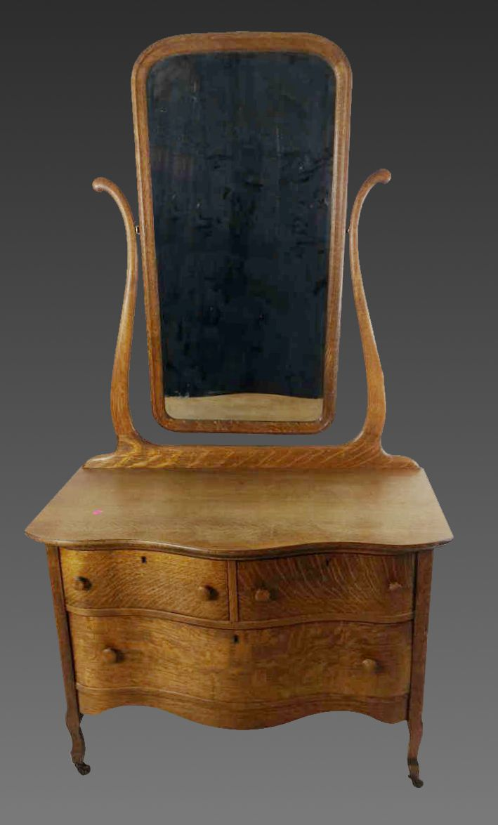 20th C Antique Dresser Mirror