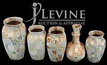 (5) Pcs. Japanese Banko Pottery Vases