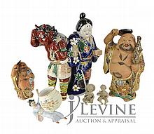 (6) Pcs. Ceramic Banko Asian Pottery Figure Lot