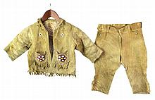 Antique Doe-Skin Indian Child's Clothing