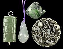 (4) Pcs. Vintage Jade Pendants