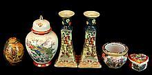 6 Pcs. Asian Satsuma Porcelain Lot