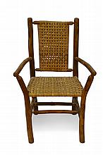 4 Vintage Hickory Branch & Reed Chairs