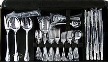 59 Pcs Christofle Silver Plate Marly Flatware