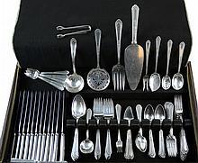 87 Pcs Silver Plate Flatware Holmes & Edwards, etc