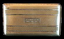 Elgin American Sterling Silver Navy Cigarette Case