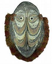 Vintage New Guinea Woven Fiber Gable Mask