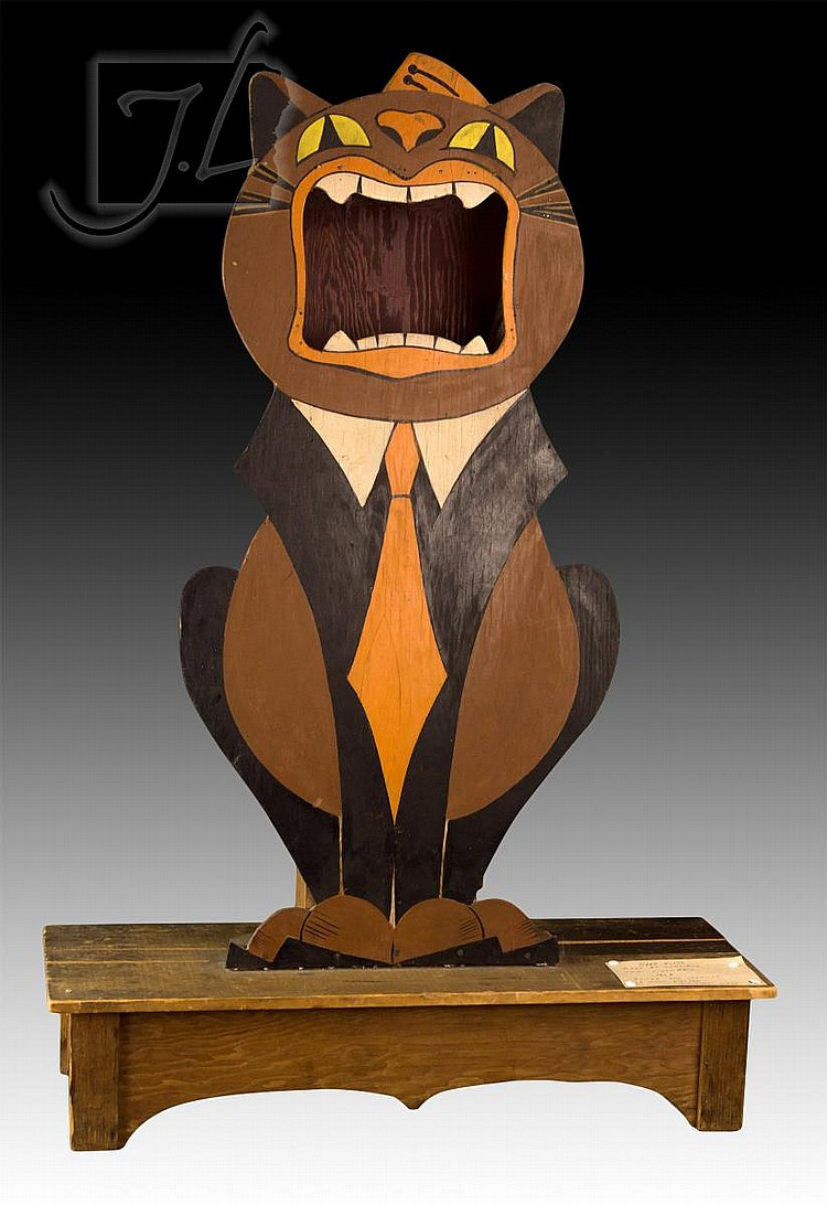 Band kitty wooden tip jar for Furniture 80s band