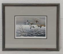 "Maynard Reece ""Passing Storm"" Lithograph"
