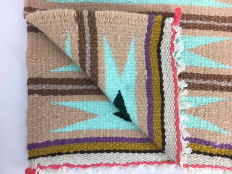 Mid 20th C Navajo Woven Pattern Rug