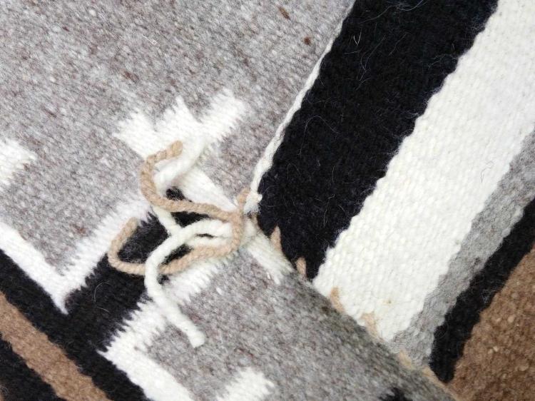 Navajo Hand Spun Two Gray Hills Rug