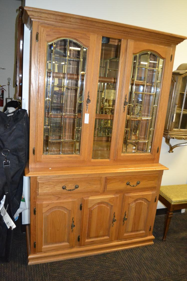 Stained Glass China Cabinet
