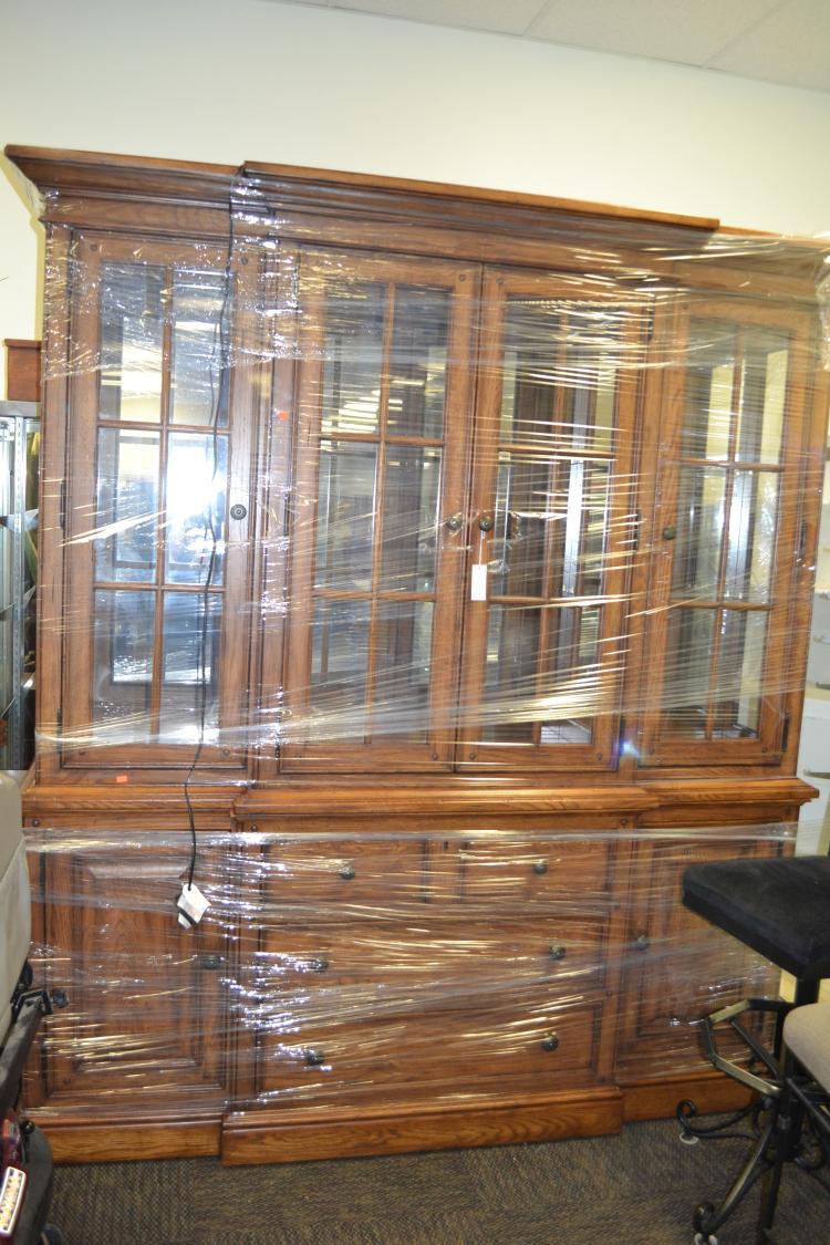 China Hutch And Buffet ~ Thomasville two piece china hutch buffet cabinet