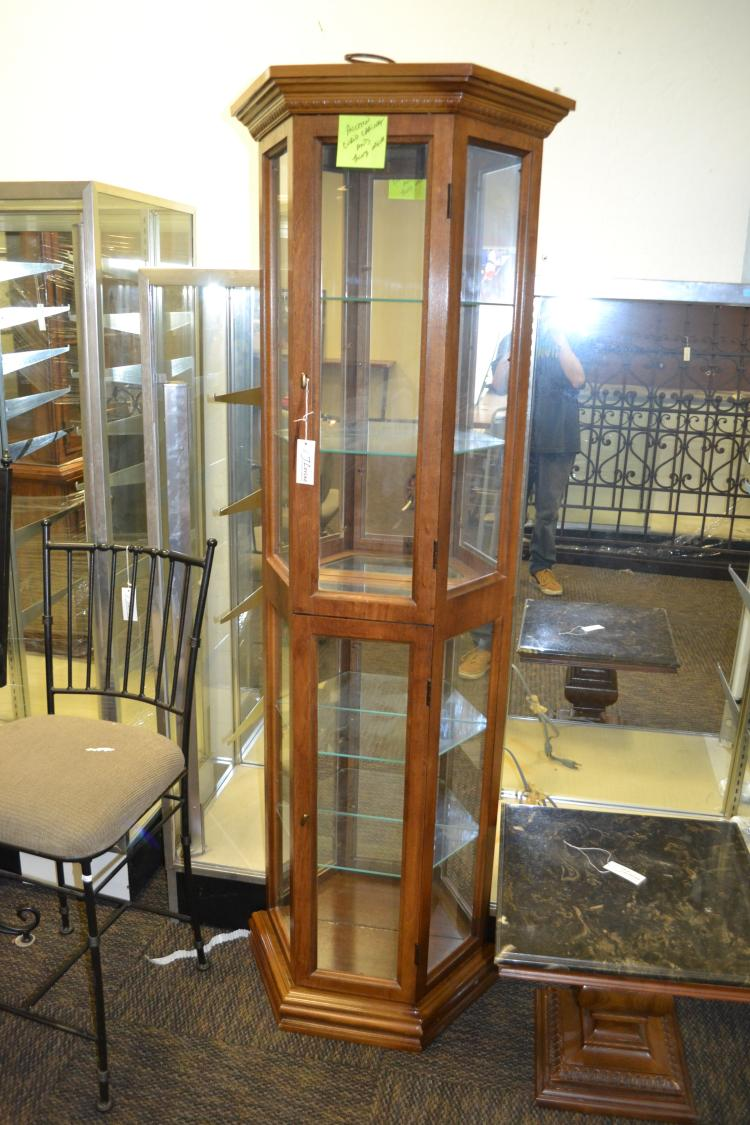 interior of kitchen cabinets vintage mirrored trapezoidal display cabinet 18975