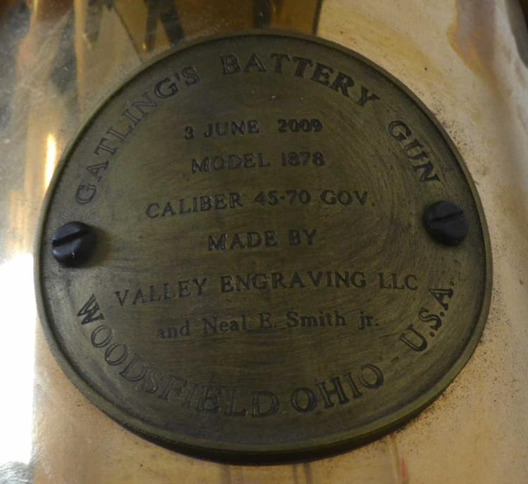 Valley Engraving Colt Model 1878 Gatling Gun 45-70