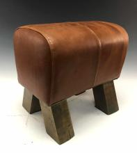 20th C. Leather Foot Stool