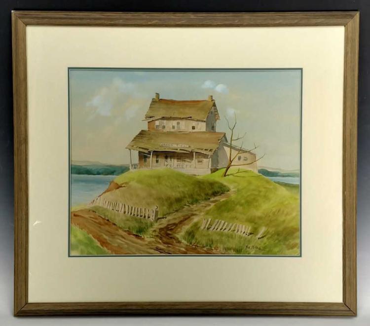 Nile Behncke Grand House Watercolor
