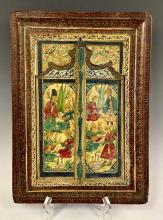 19th C. Decorative Asian Mirror