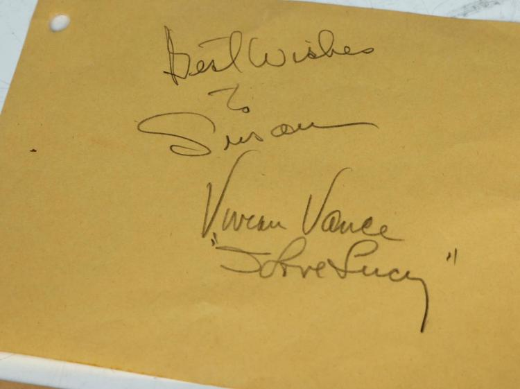 i love lucy lucille ball cast autographs collectio