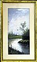 1881 Pastel, Meandering River, Edwin F. Porter