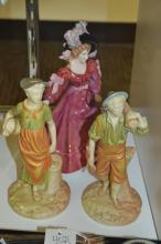 Lot Of 3 Royal Worcester And Doulton Patricia Porcelain Figurines