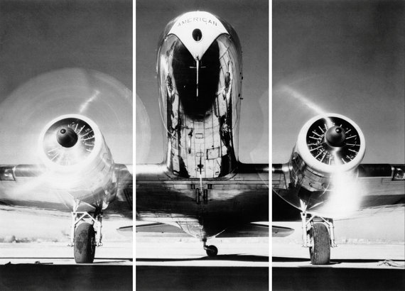 Vintage airplane triptych panel art print - Vintage airplane triptych ...