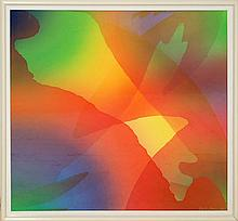 Stanley Migas Abstract Monoprint Pair