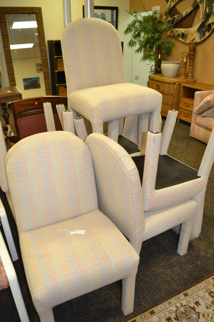 lot 5145 8 custom upholstered dining chairs
