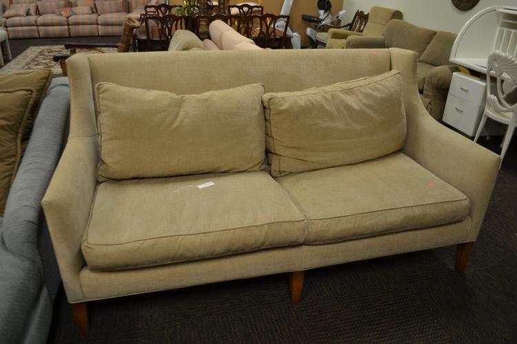 Robb And Stucky Custom Upholstered High Back Sofa